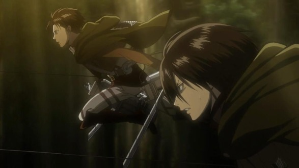 Mikasa is as good as the whole titan slaying thing as the best soldier pretty much ever... strange much?