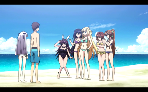 A beach scene with 6 girls? So remind me why anime has a bad reputation in certain circles?