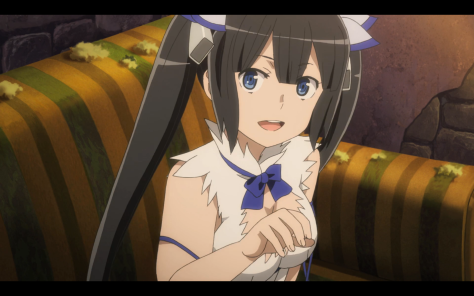 Hestia and Bell live an abandoned church, no wonder Hestia can't afford real clothes.