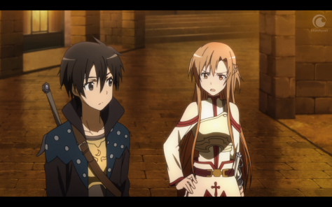 Kirito and Asuna get on really well... eventually.