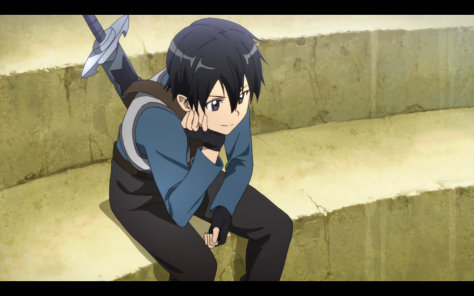 Kirito is a bit of a loner, I think it must add to his charm.