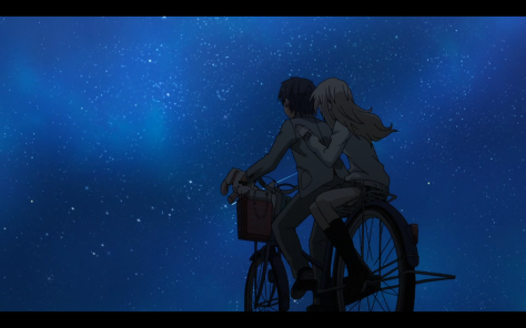 This isn't the only scene with two people on a bike.