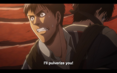 Bertolt unable to contain himself any longer.