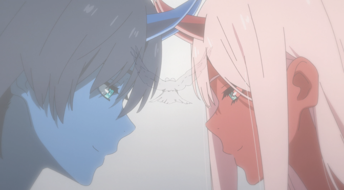 Monsters vs Humans vs Aliens with some romance thrown in: a review of Darling in the FranXX